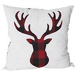 Holiday Plaid Deer Pillow - thecodexclub