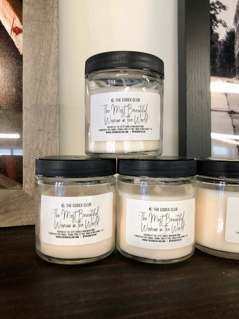 'The Most Beautiful Woman in Town' Handmade Soy Candles by the codex club