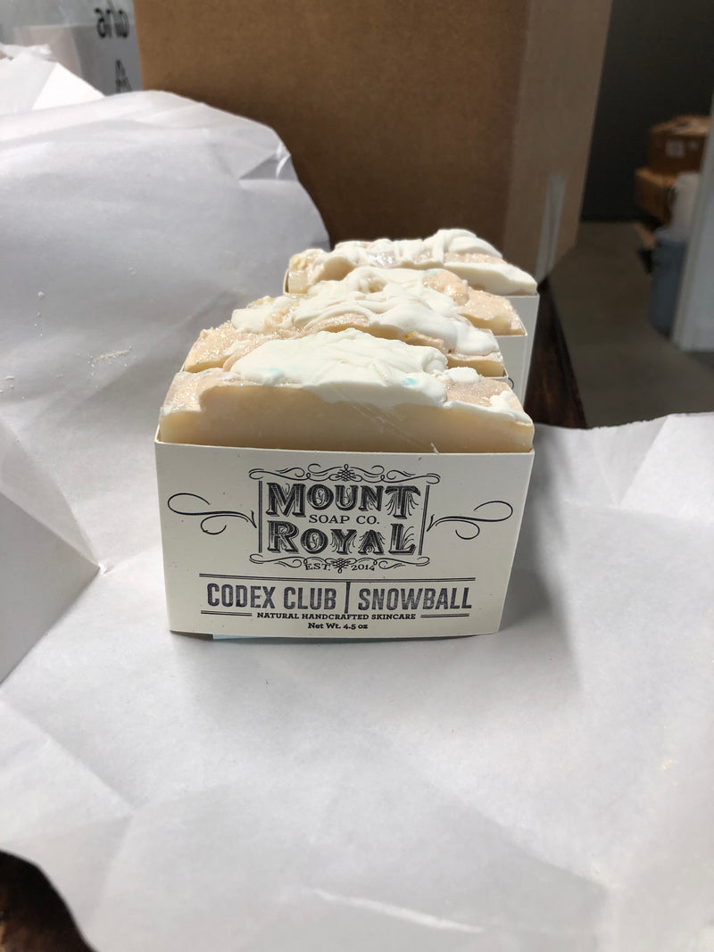 Baltimore 'Snowball' Custom Soap by Mount Royal Soap Co.