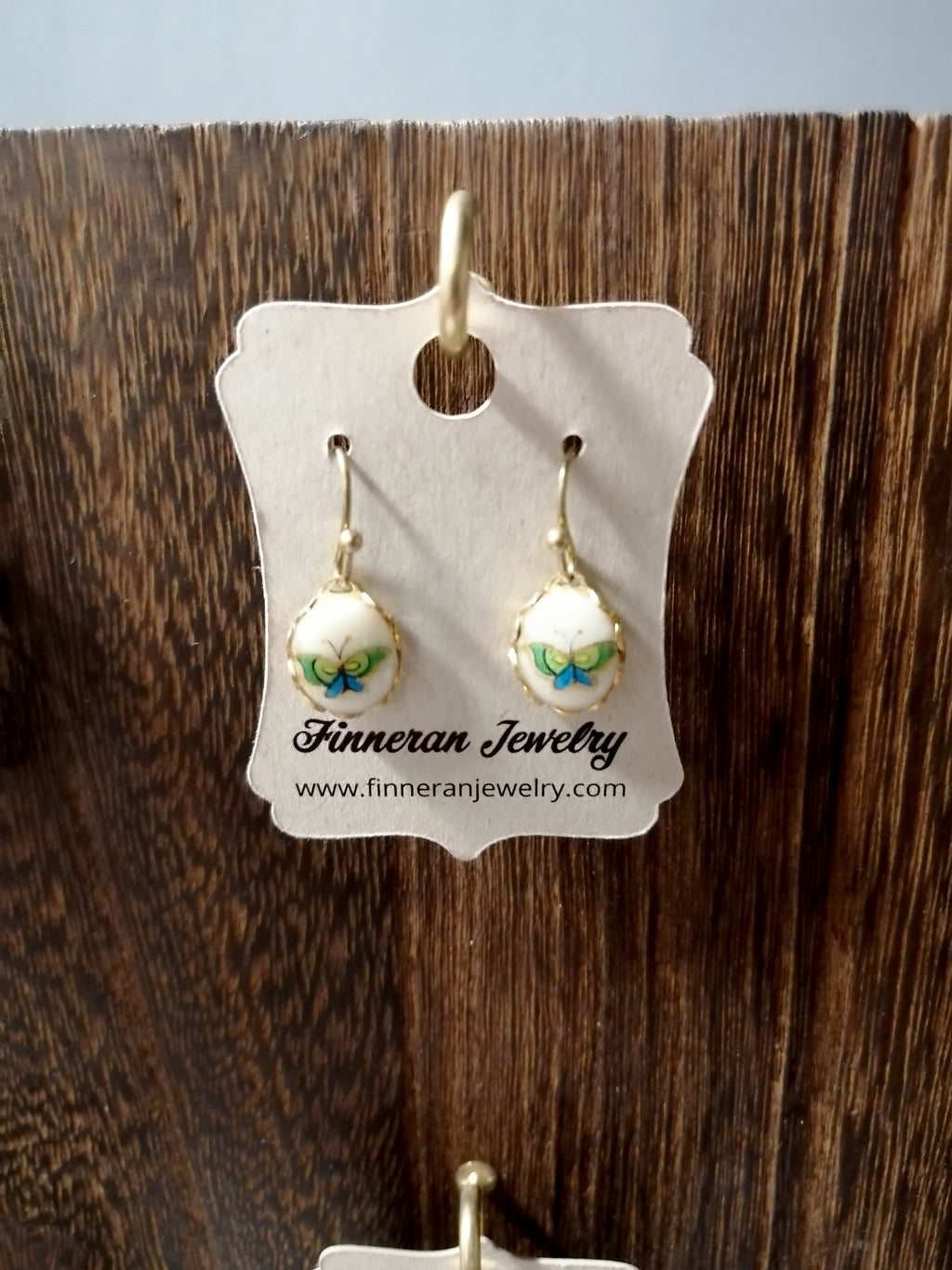 Vintage Bead Dangling Earrings by Finneran Jewelry