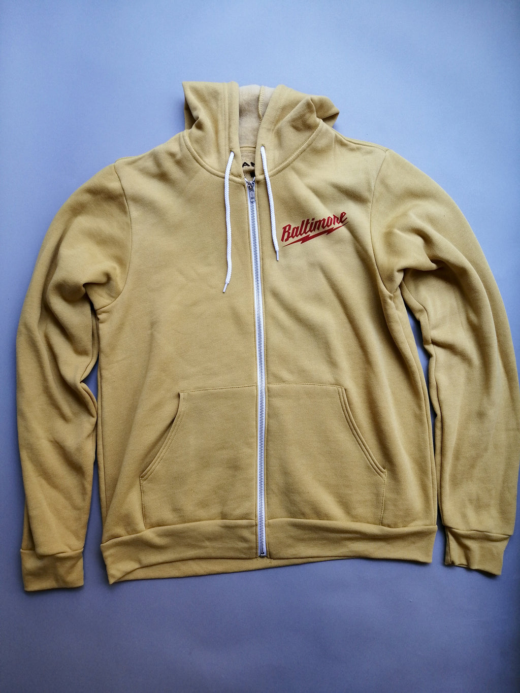 Baltimore Lightning Mustard Yellow Hoodie by Pangea Printing