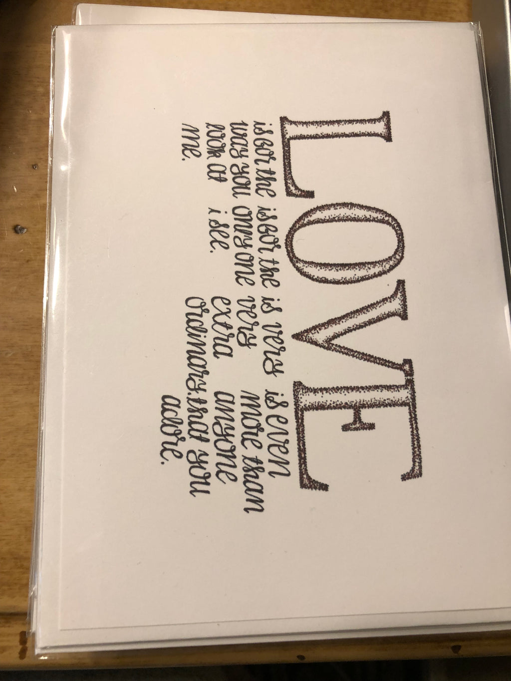 L-O-V-E Greeting Card, designed by Jess Kennedy - thecodexclub