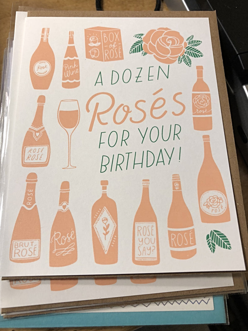 A Dozen Rose's For Your Birthday Greeting Card - thecodexclub