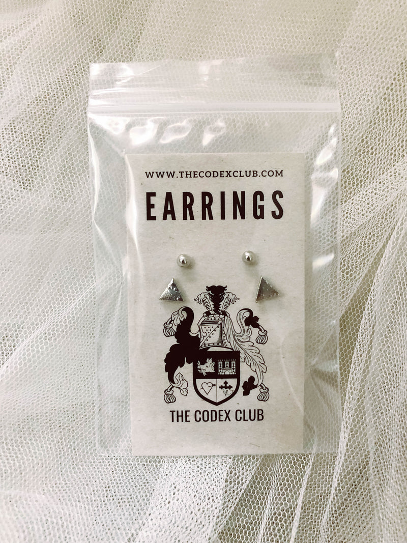 Hip Triangle Earrings Set