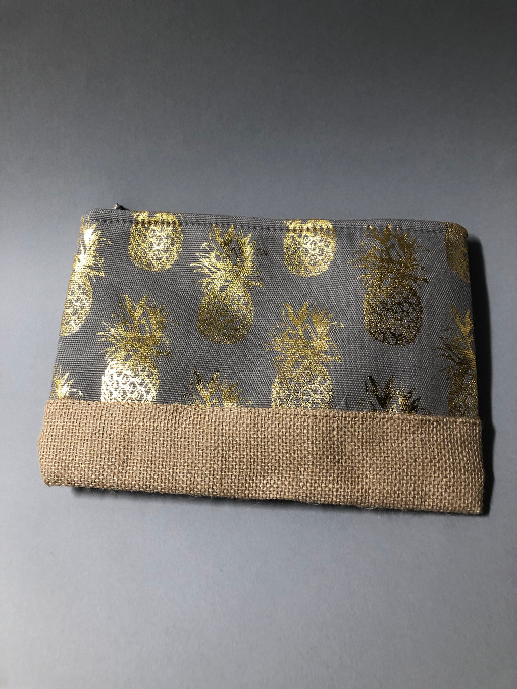 Gold Grey Pineapple Pouch