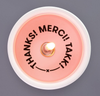 'Thanks! Merci! Takk!' Secret Message Candle - thecodexclub