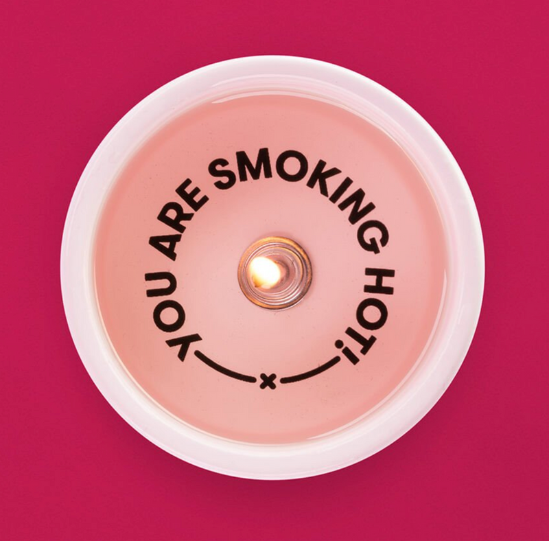 'You're Smoking Hot' Secret Message Candle - thecodexclub