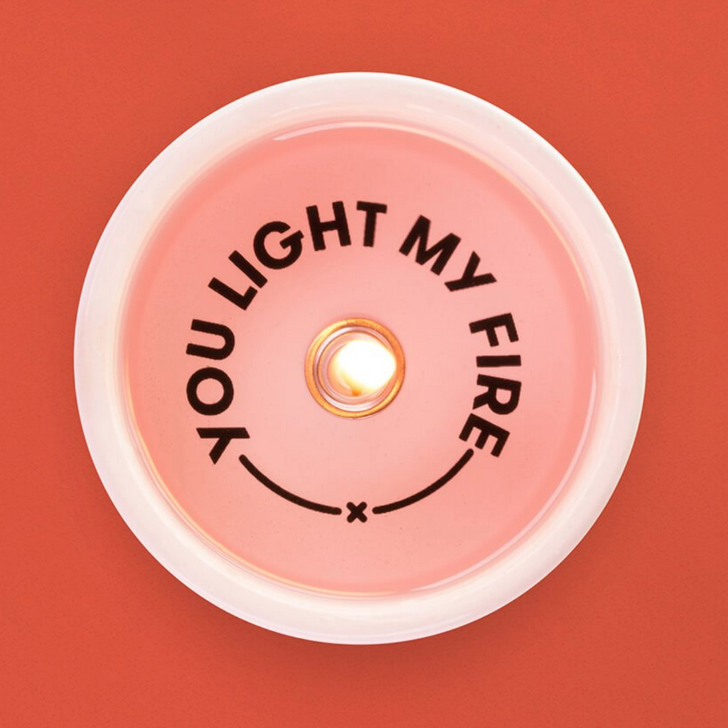'You Light My Fire' Secret Message Candle - thecodexclub
