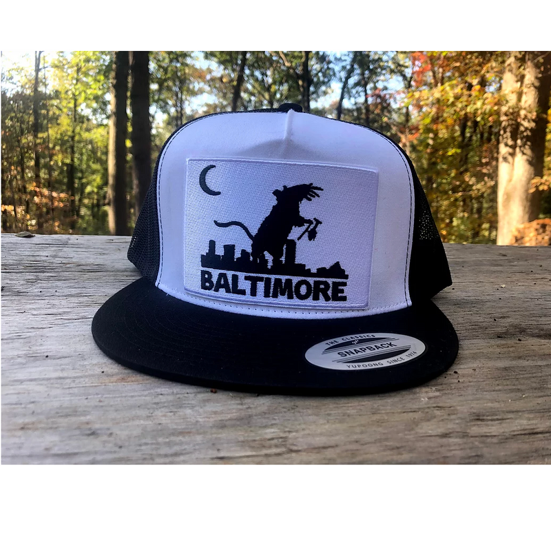 Ratzilla embroidered hat by Rat Czar