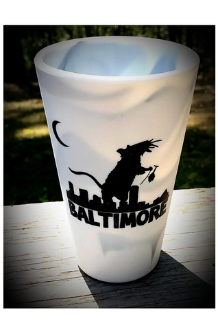 BALT Rat silicone pint glass (Marbled) by Rat Czar