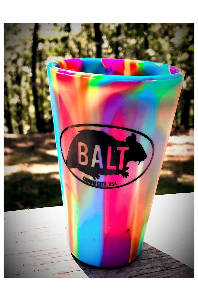 BALT rat Silicone pint glass (Tie Die) by Rat Czar