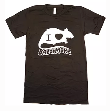 I Love/Rat Baltimore shirts by the Rat Czar