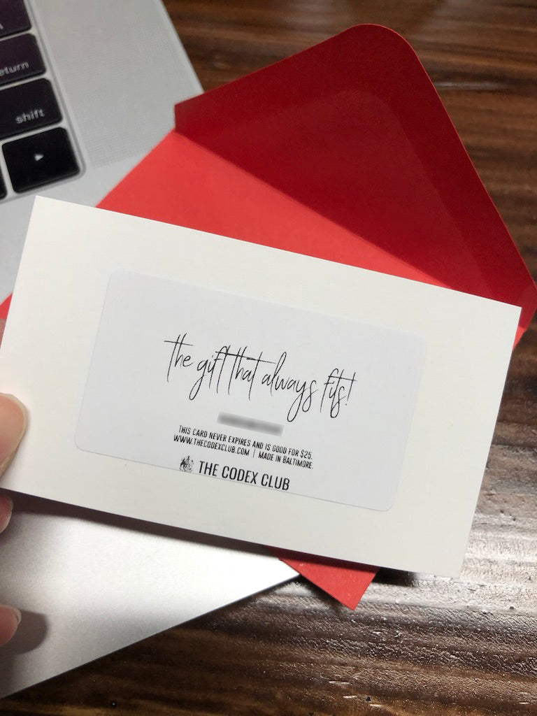 Gift Card (Email or Physical)