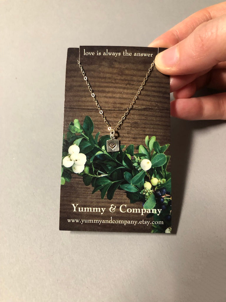 Heart Charm Necklace by Yummy and Company