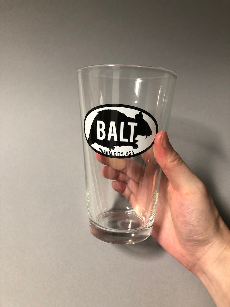 BALT Rat Pint Glass by Rat Czar