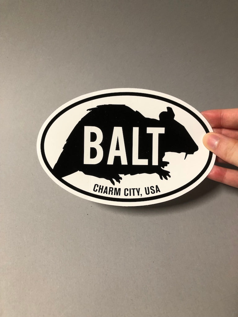 BALT Rat Sticker by Rat Czar