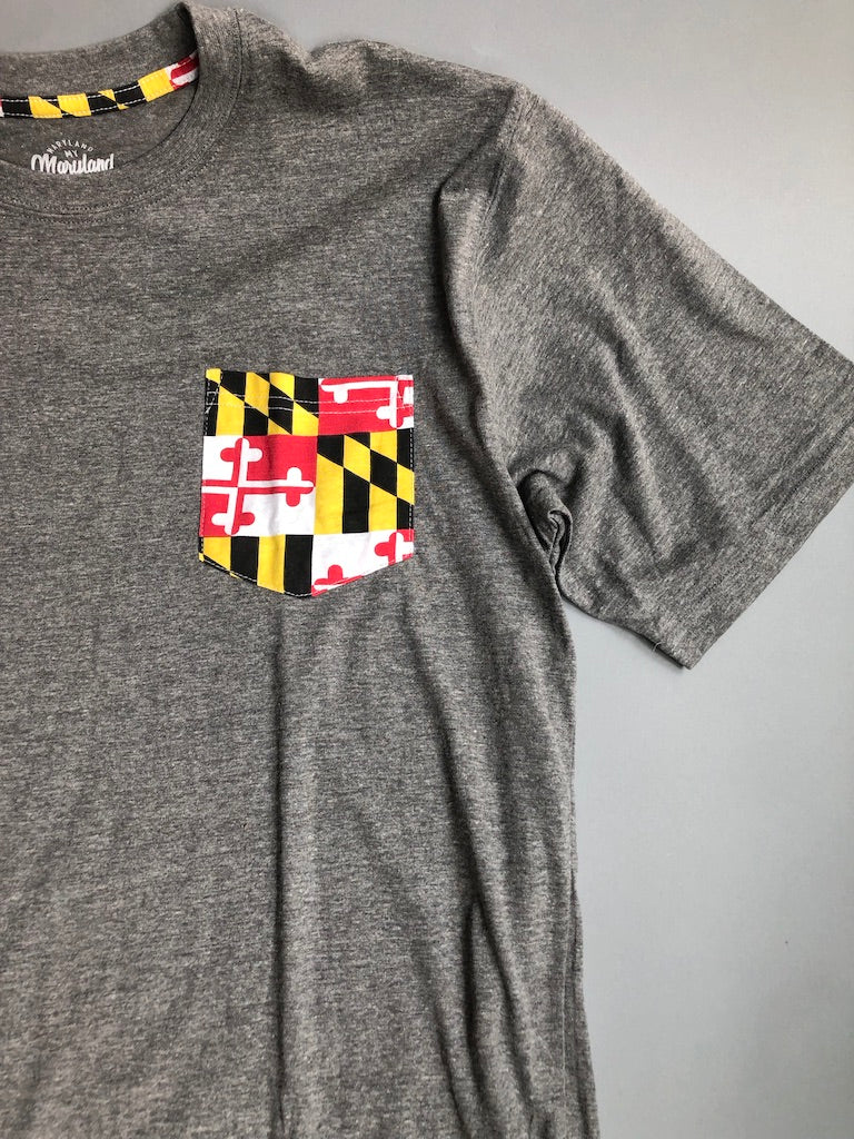 Maryland Flag Pocket T-Shirt