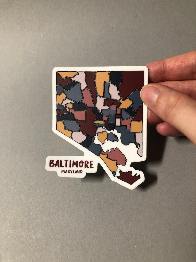 Baltimore Map Stickers by Nora Jayne