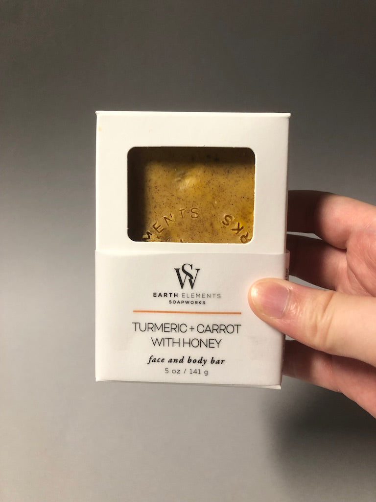Turmeric Carrot Honey Soap by Earth Elements Soapworks