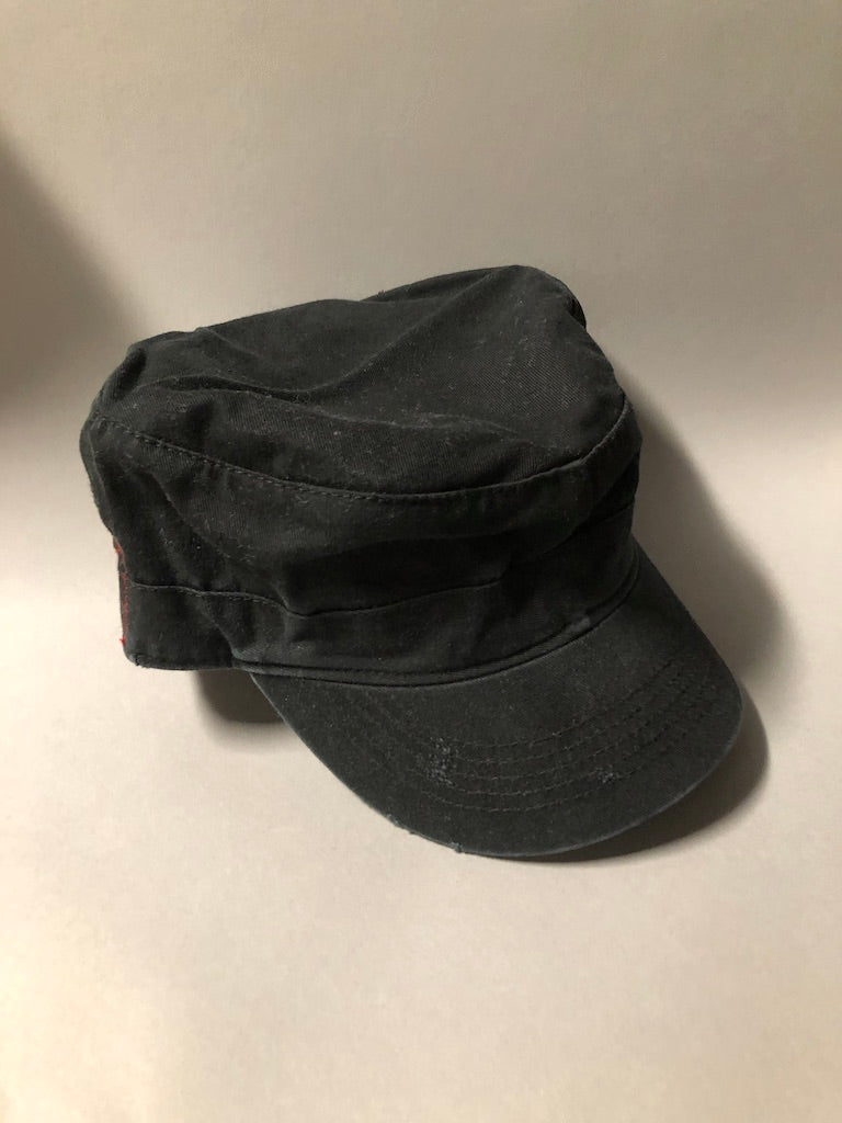Black Cotton Busboy Cap