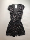 Midnight Sequin Wrap Dress