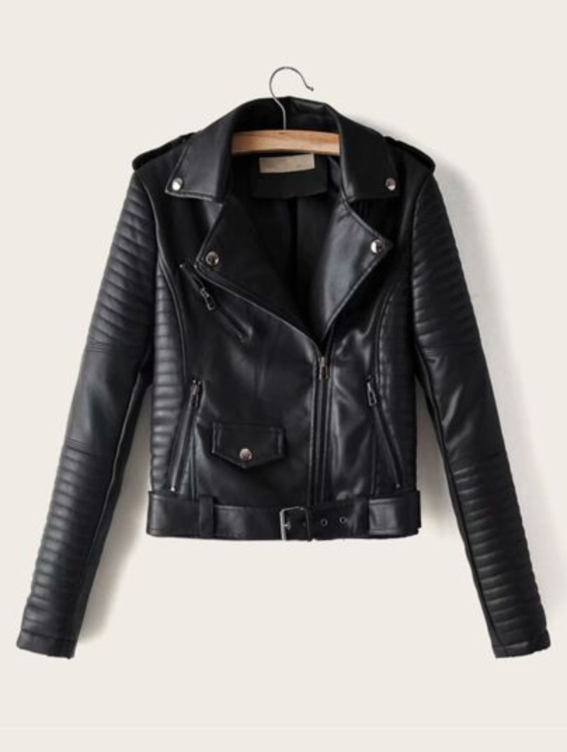 Poly Leather Jacket