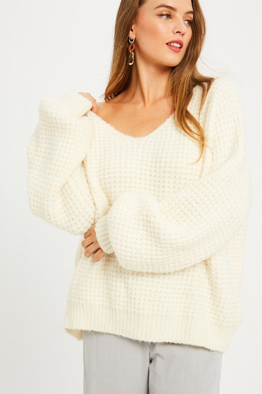 Comfy Cream Pullover Sweater