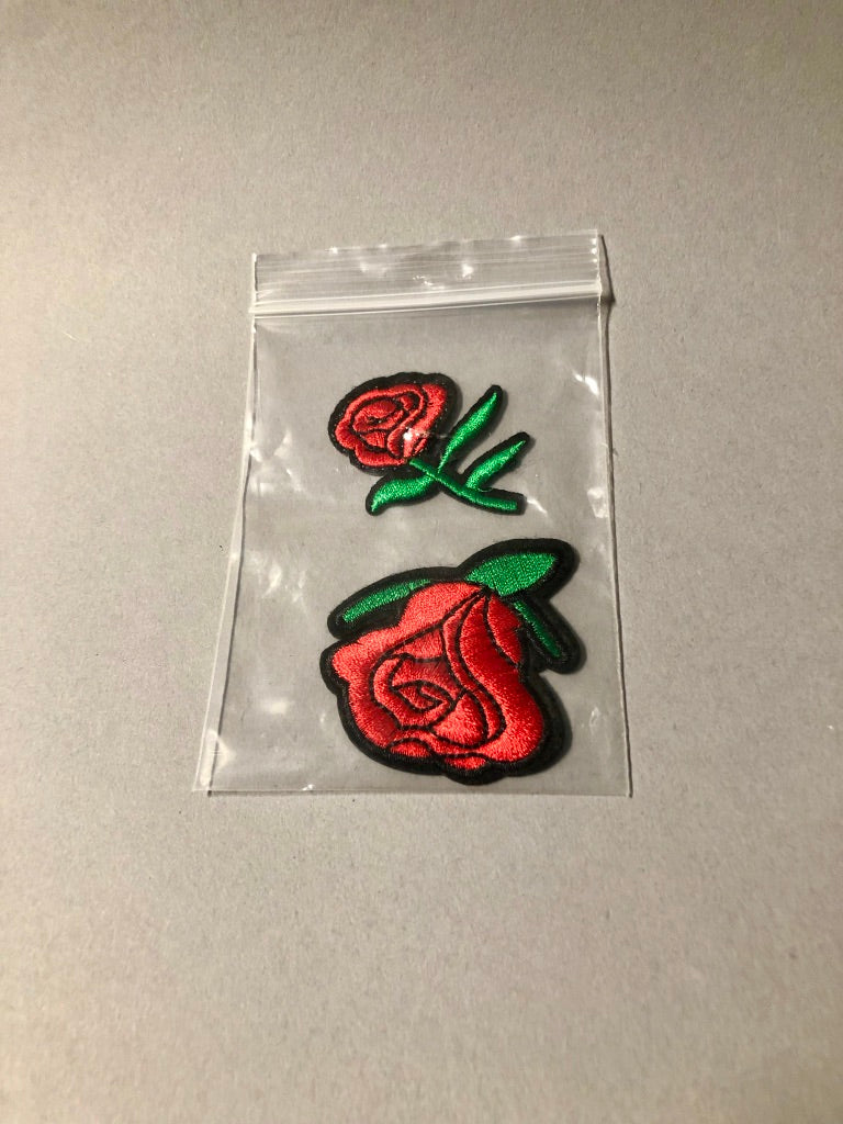 Iron-On Rose Patches