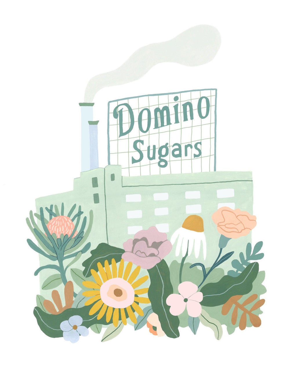 Domino Sugars Print by Megan McKee