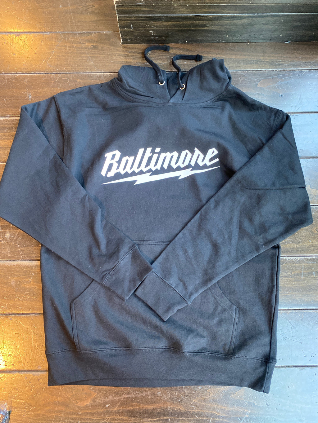 Baltimore Lightning Black Hoodie by Pangea Printing