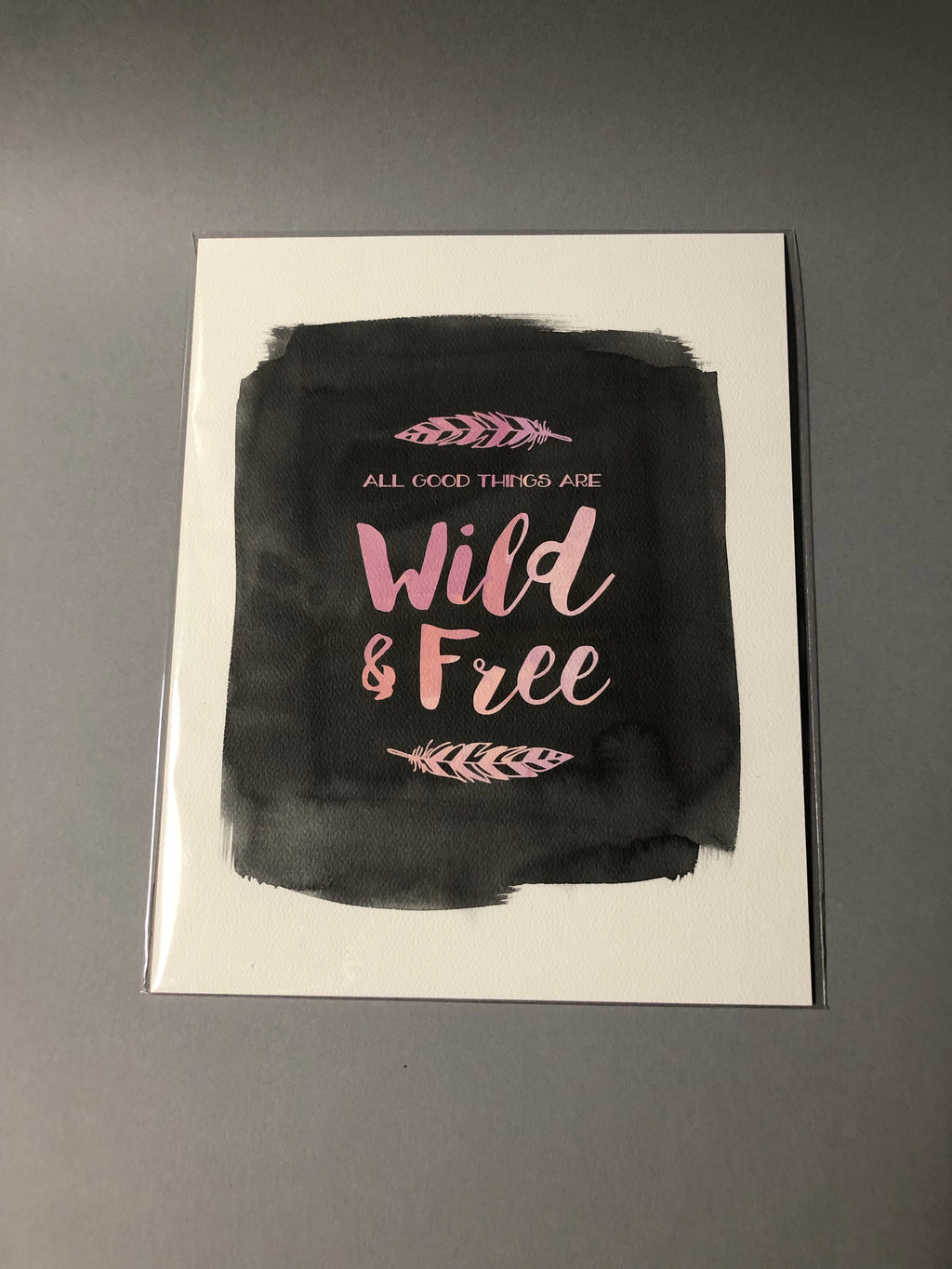 Wild & Free Poster by Presence & Grace 8x10""
