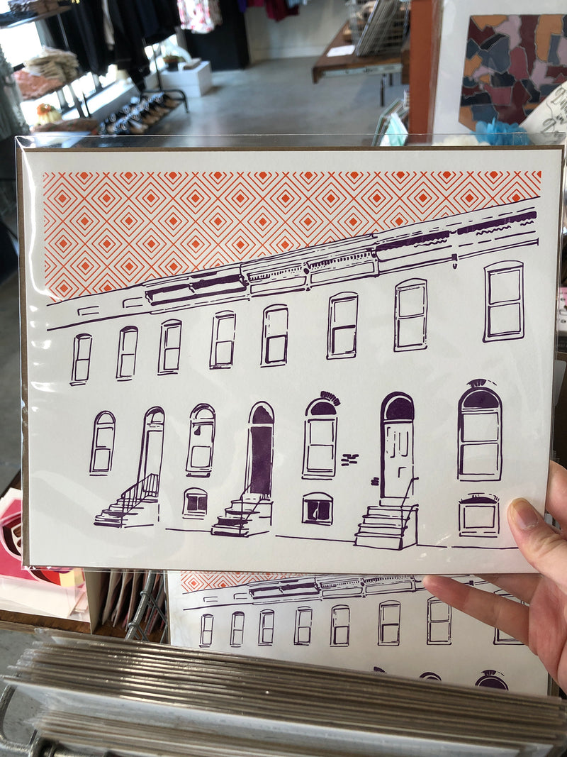 "Baltimore Maryland Letterpress 8""x10"" Posters by Tiny Dog Press"