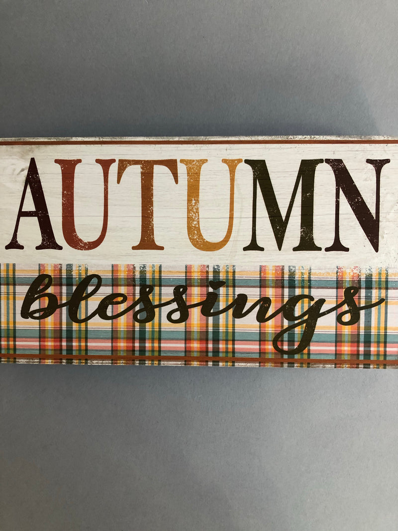Autumn Blessings Fall Wall Decor Sign