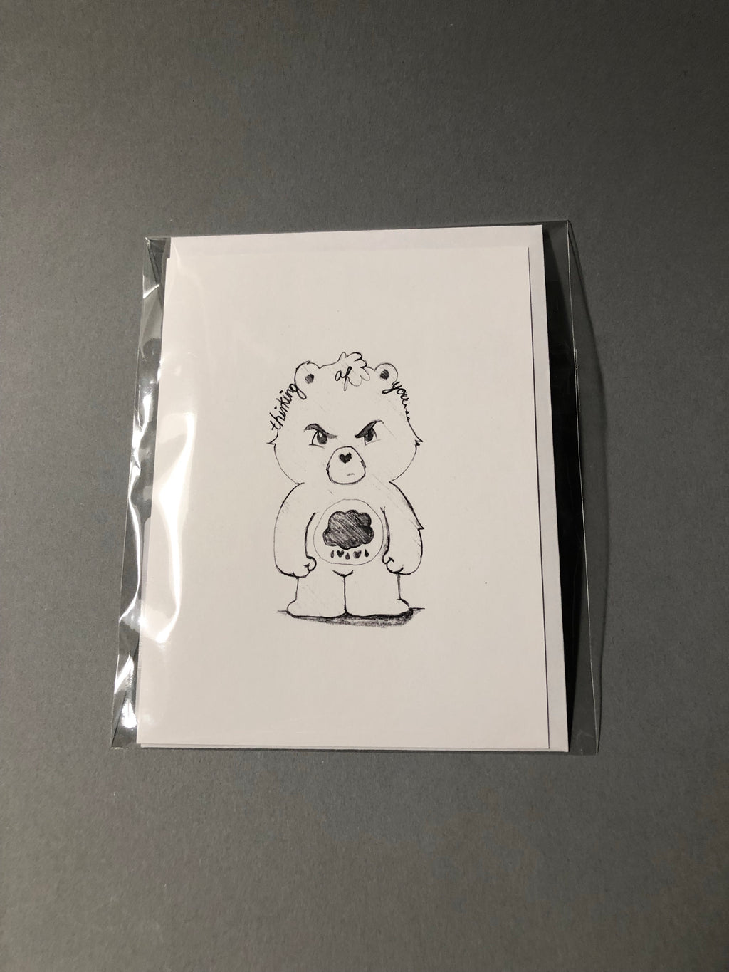 'Thinking of You' Grumpy Bear Greeting Card