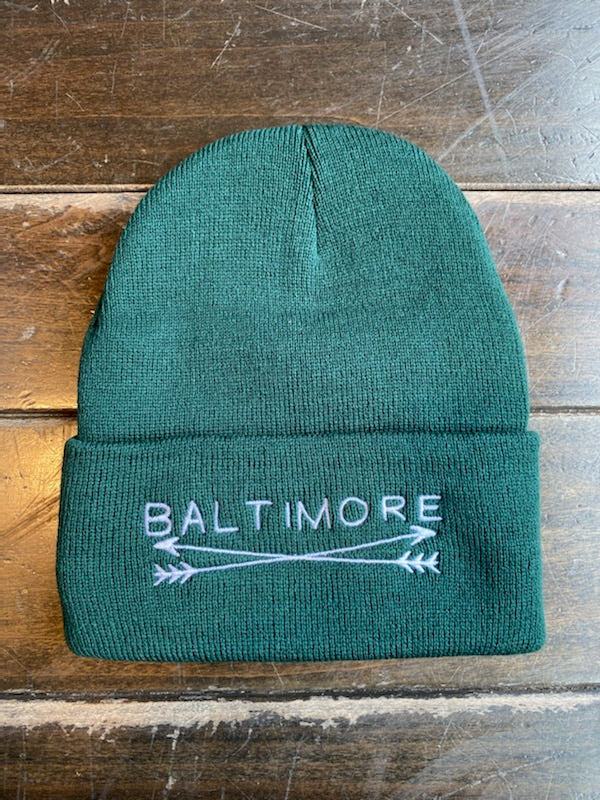 Baltimore Arrows Green Beanie by Pangea Printing