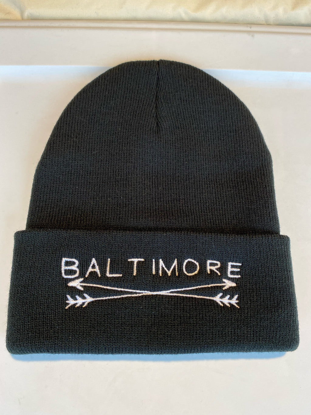 Baltimore Arrows Black Beanie by Pangea Printing
