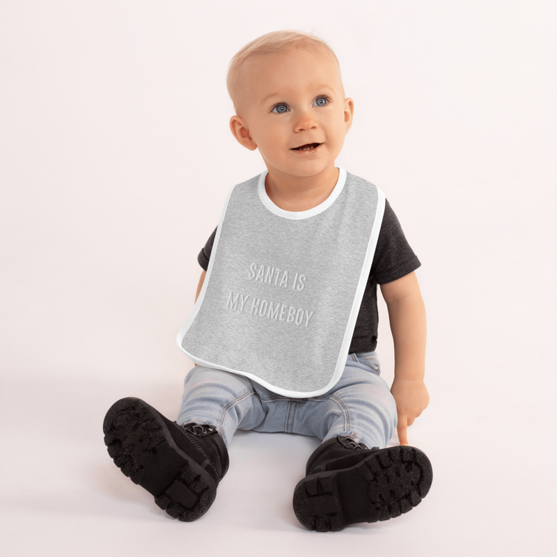 'Santa is My Homeboy' Bib