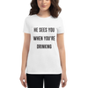 'He Sees You When You're Drinking' Festive T-Shirt