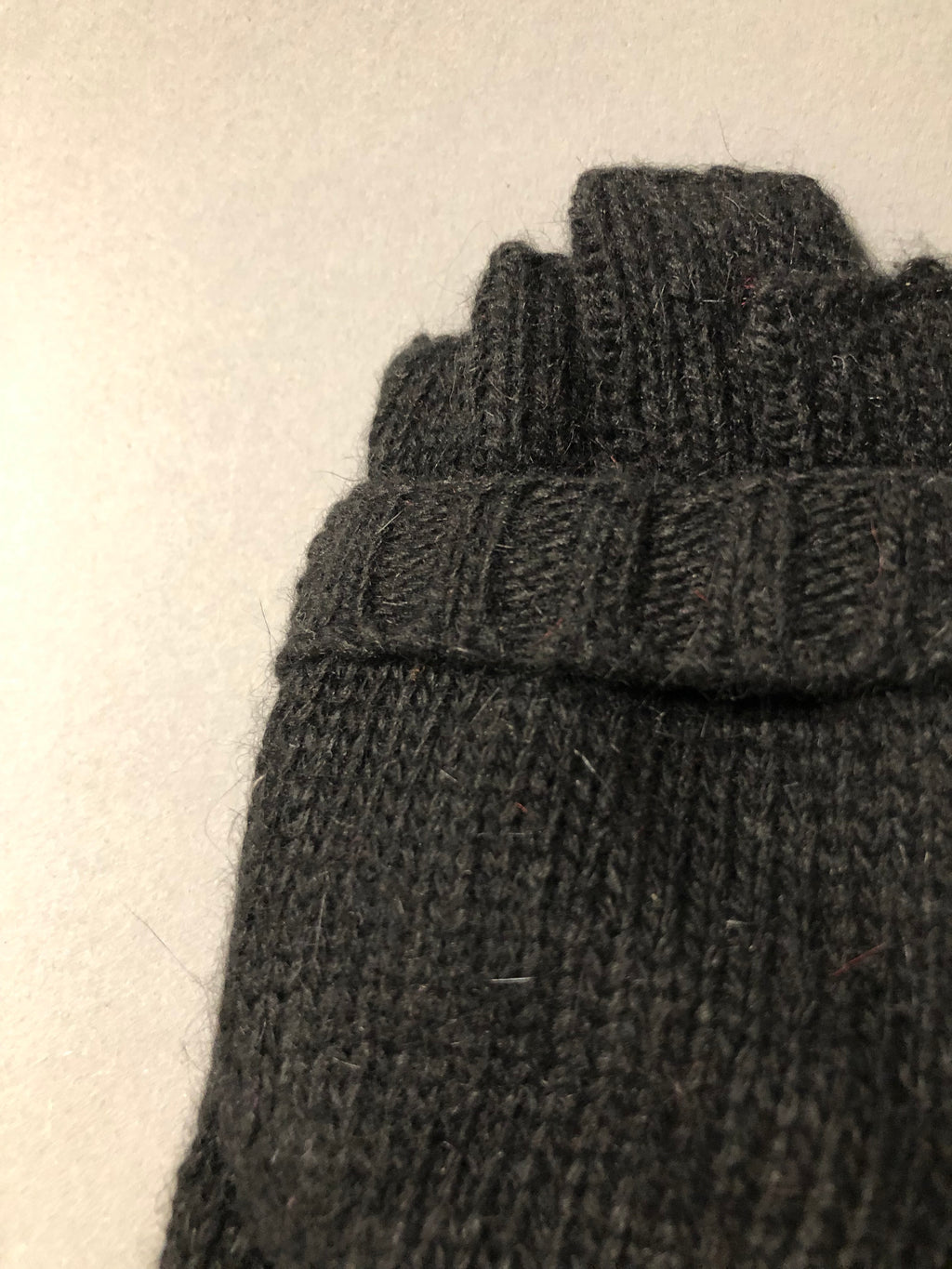 Black Wool Mittens