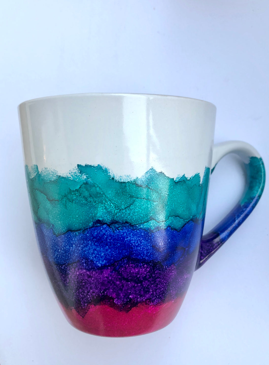 ALCOHOL INK MUG- Multi-Color/NO GOLD 2