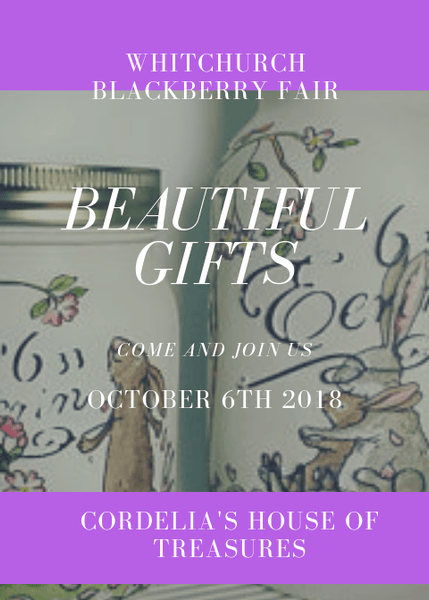 We will be at the BlackBerry fair Whitchurch