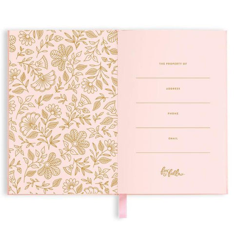 pink and rose gold note book gift for women and girls