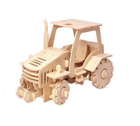 educational wooden 3d puzzles toys remote control tractor - cordelia's house of treasures