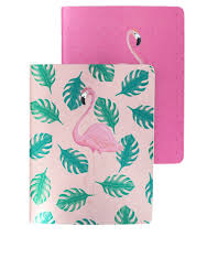 srah miller note pads with flamingo design
