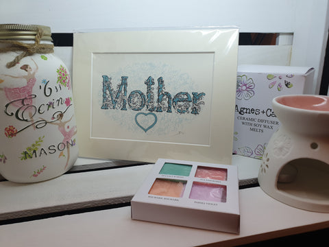 personalised name print mothers day gift