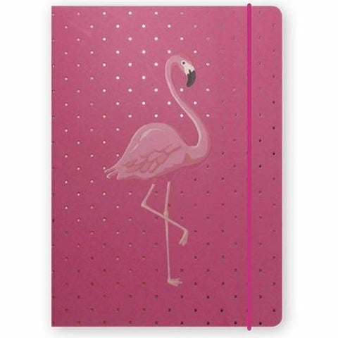 close up on previous sara miller flamingo pink book