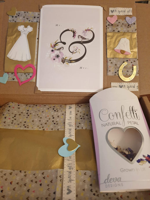 Beautiful gift box wedding