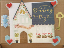 Lovely wedding box with photo album and card