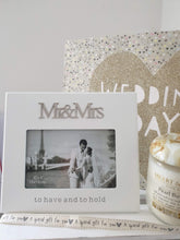 To have and to hold Mr and Mrs photo frame - Cordelia's House of Treasures