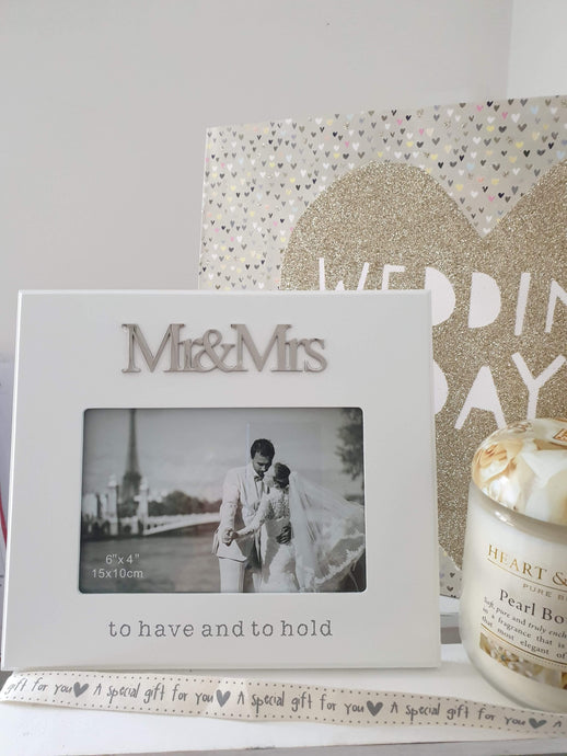 To have and to hold Mr and Mrs photo frame